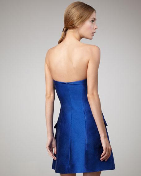 Rai Taffeta Jacket-Style Dress