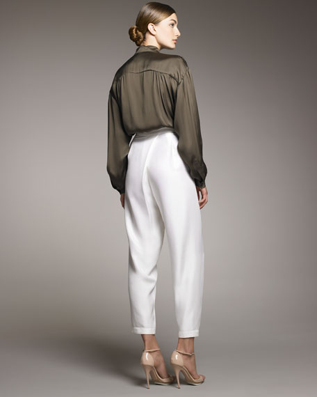 Rina Harem Trousers, White