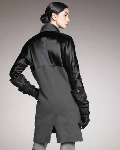 Jones Mixed-Fabric Coat