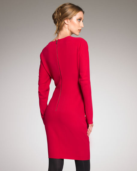 Long-Sleeve Sheath Dress