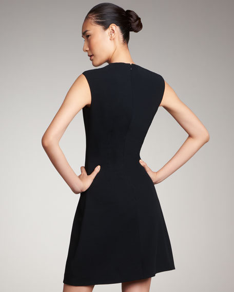 A-Line Crepe Dress