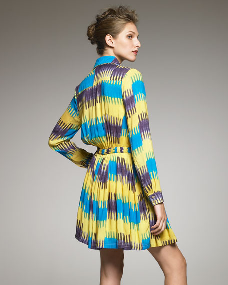 Ikat-Print Shirtdress