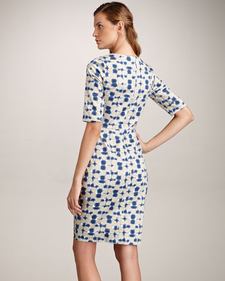 Abstract-Print Cotton Dress