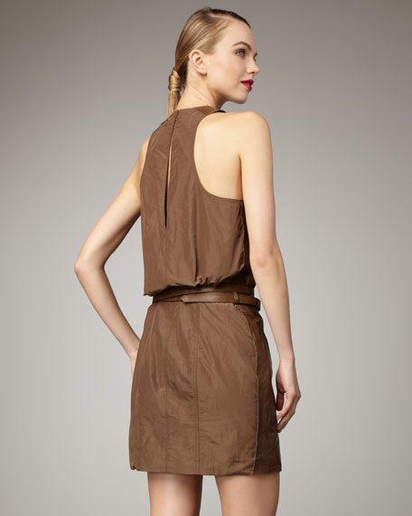 Leather Parachute Dress