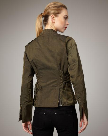Tech-Fabric Cavalry Jacket