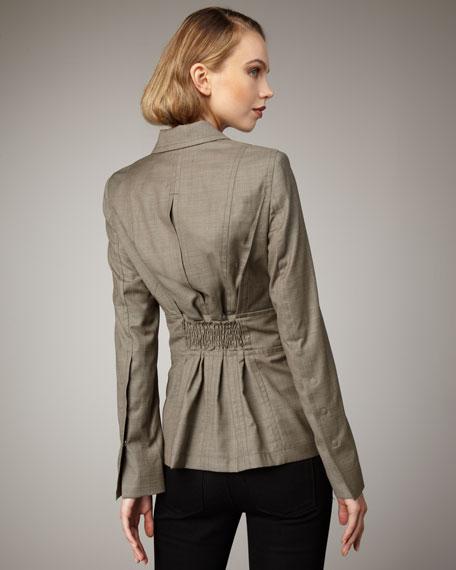 Smocked Back Jacket