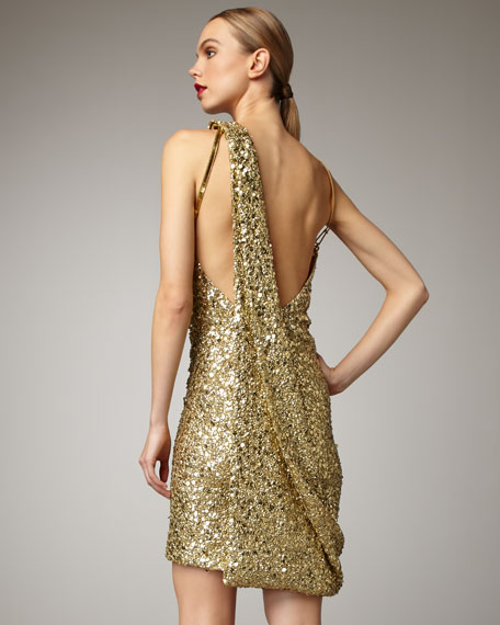 Golden Crystal Gown