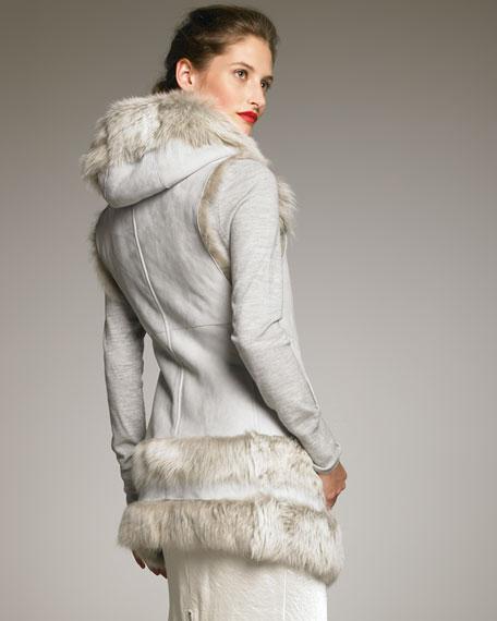 Shearling Hooded Vest