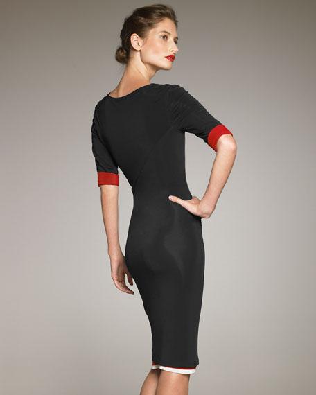 Jersey Contrast Dress