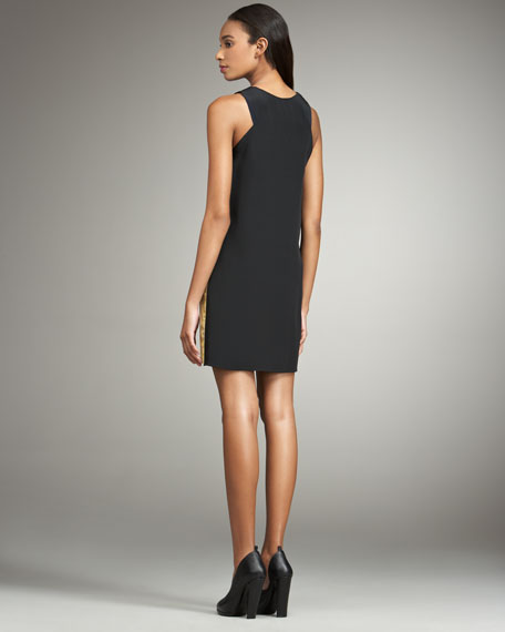 Sleeveless Peekaboo Panel Dress