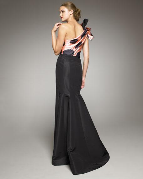Polka-Dot-Bodice Mermaid Gown