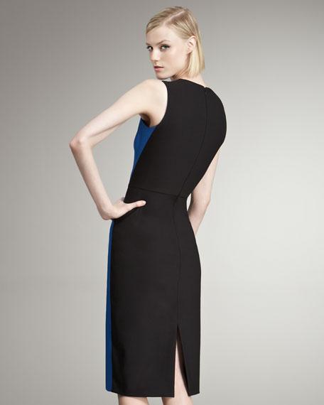 Colorblocked Sheath Dress