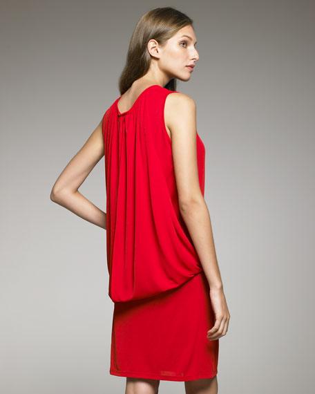 Blouson-Back Dress
