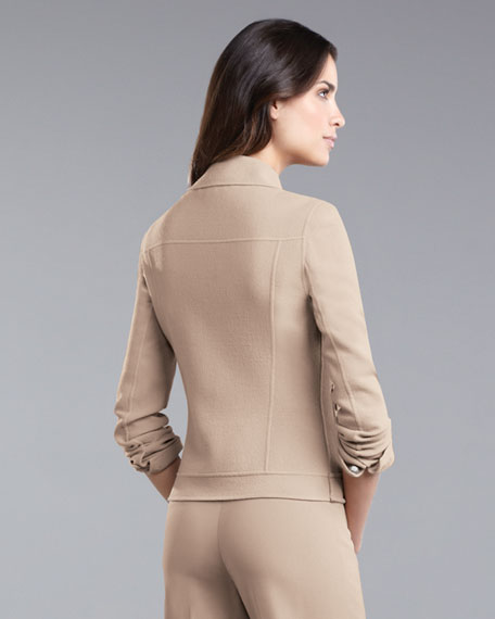 Double-Faced Crepe Jacket