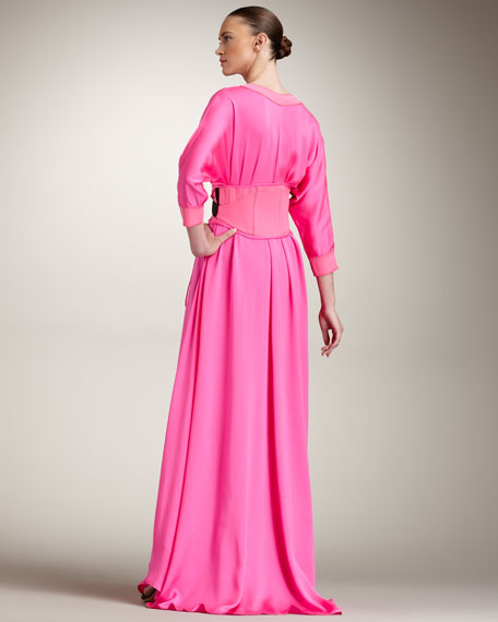 Snap Button-Front Gown