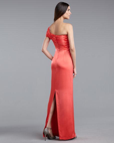 One-Shoulder Liquid Satin Gown