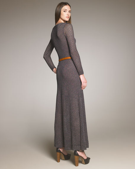 Open-Knit Maxi Dress