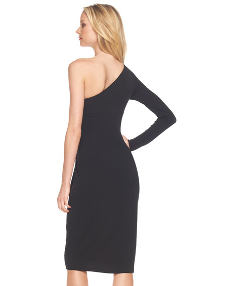 Matte One-Sleeve Jersey Dress