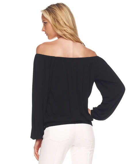 Off-The-Shoulder Jersey Top