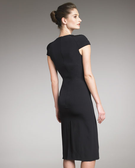 Cowl-Neck Dress, Black