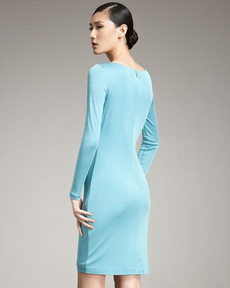 Patty Long-Sleeve Jersey Dress