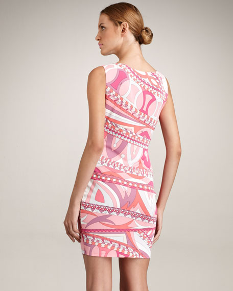 Sleeveless Asymmetric Border Dress