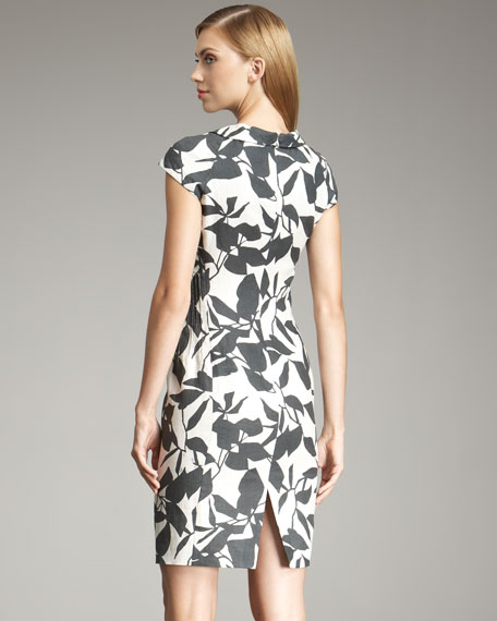 Graphic Floral-Print Dress