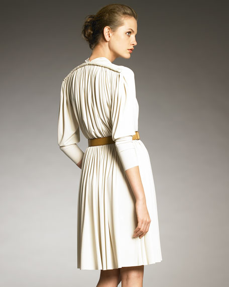 Rope-Shoulder Draped Dress