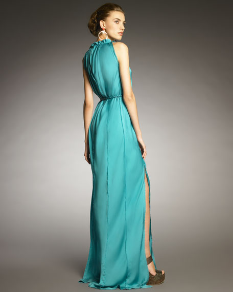 Exposed-Seam Gown