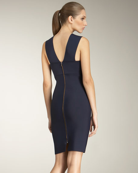 Wilkes Fold-Neck Dress