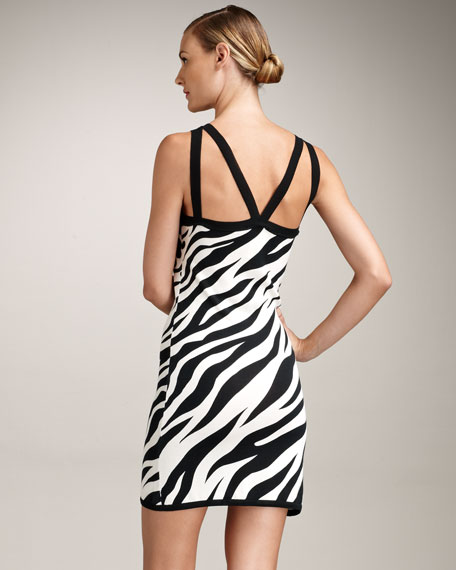 Animal-Print Silk Dress
