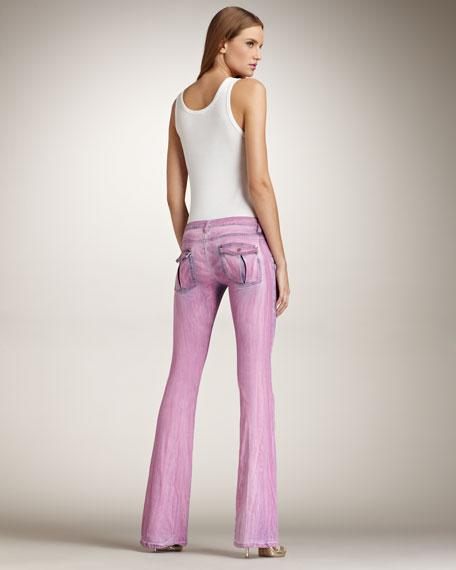 Boot-Cut Jeans, Mauve