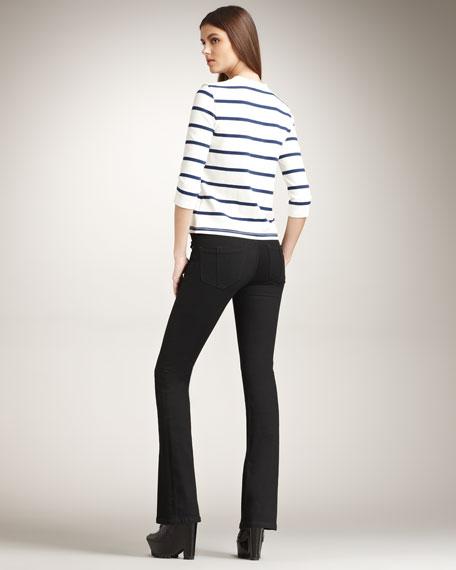 Boot-Cut Black Jeans