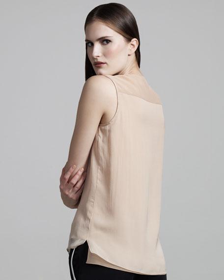 Silk V-Neck Top