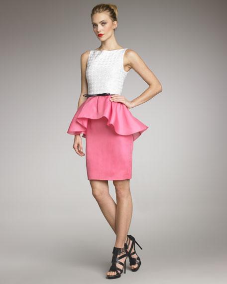 Two-Tone Cascade Dress