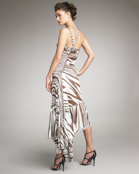 Beatrix Zebra-Print Dress