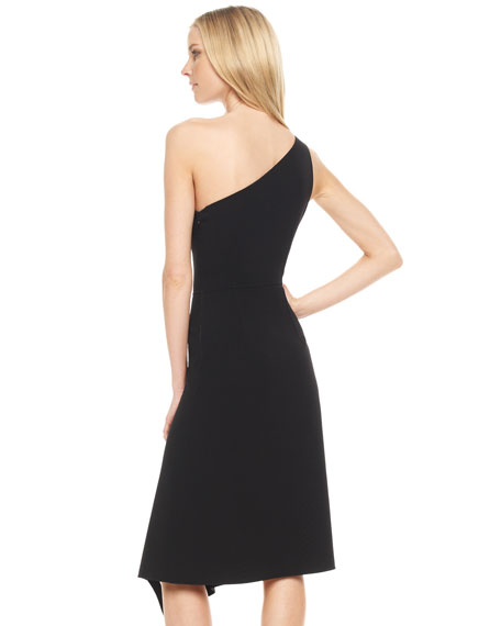 Crepe One-Shoulder Dress