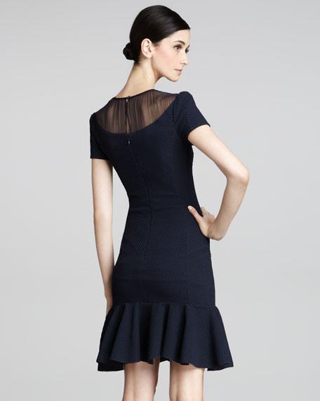 Chiffon-Neck Dress