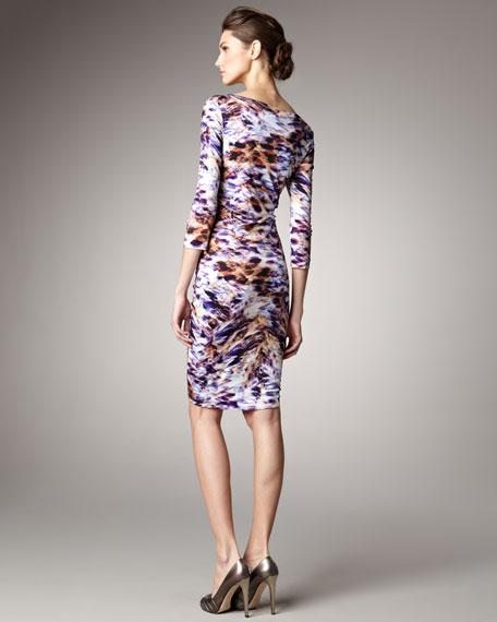 Sunset-Print Dress