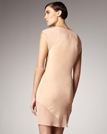 Combo Sheath Dress, Cantaloupe