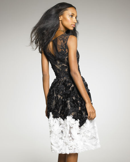 Ribbon-Detail Dress