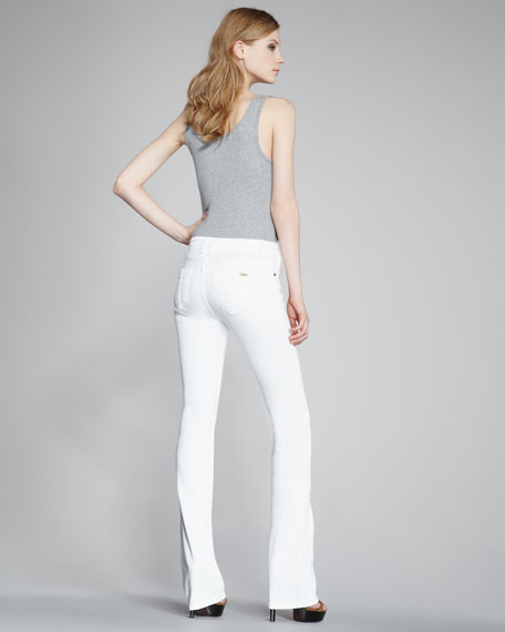 Boot-Cut White Jeans