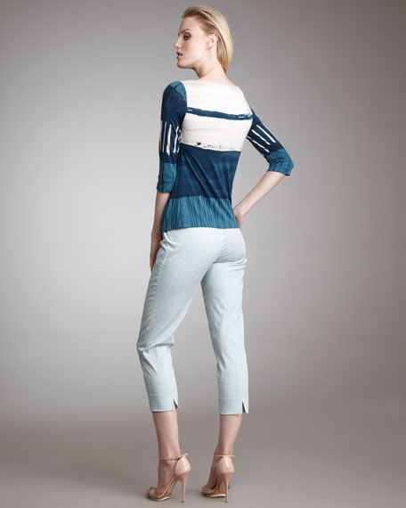 Audrey Striped Capris
