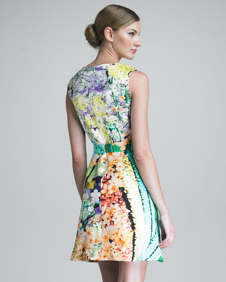 Balalaika-Print V-Neck Dress