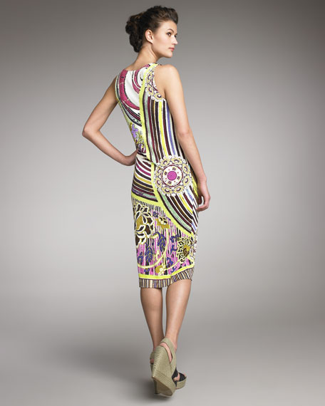 Swirl-Print Dress