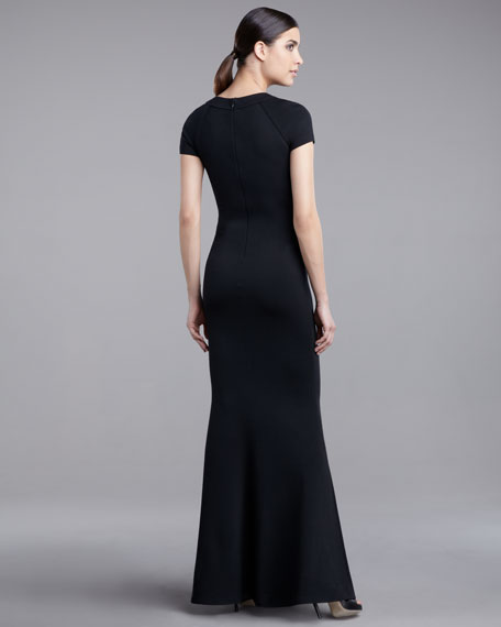 Milano Neck-Cutout Gown