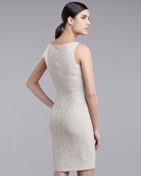 Exclusive Sequin-Tweed Dress