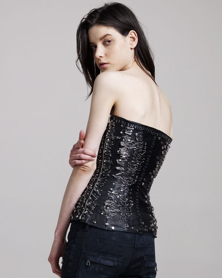 Safety-Pinned Bustier