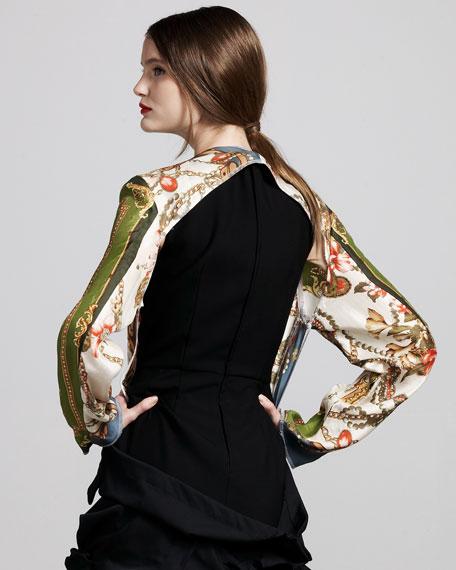 Floral-Print Jacket