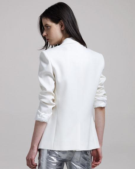 Tuxedo Jacket, Ivory